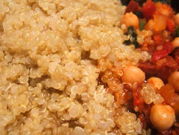 Quinoa with chickpea stew